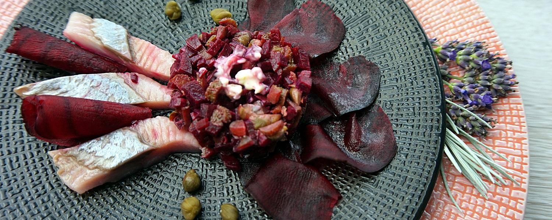 Matjes mit Rote Bete Tatar