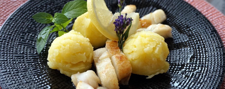 Steinbeißerfilet mit Zitronenkartoffeln