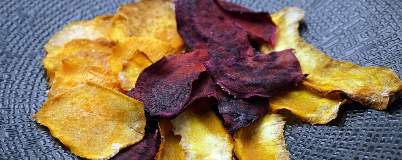 Rote Bete-, Süßkartoffel- und Kürbis-Chips
