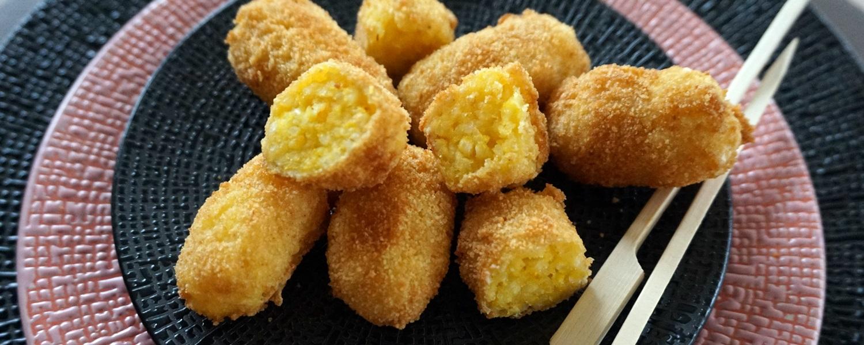 Goldene Risotto-Kroketten