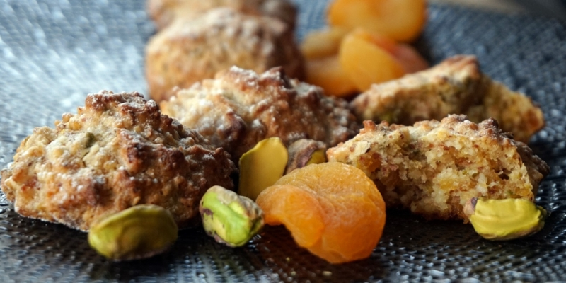 Softe Aprikosen-Pistazien-Kekse